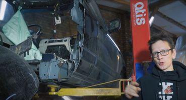 Выдержит удар остолб: Range Rover распилил болгаркой автоблогер «Академик»