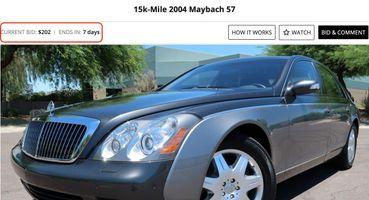 Maybach 57 за202 доллара продают нааукционе вСША