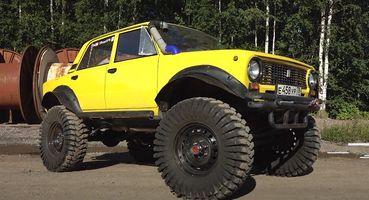 «Злая Копейка» для уничтожения внедорожников: Самый дорогой ВАЗ-2101 набазе Nissan Patrol показали блогеры