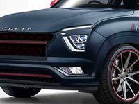 Новая Hyundai Creta в спортивном облике показана на рендере
