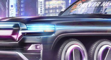 «Крузак» изCyberpunk 2077: Toyota Land Cruiser 2077 показан нарендере