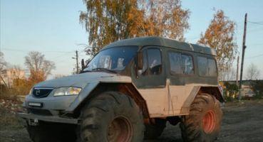 Чудовище Франкенштейна: Трактор с«лицом» Mazda представили российские умельцы